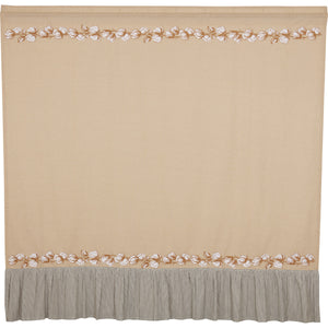 VHC Brands Ashmont Cotton Shower Curtain 72x72