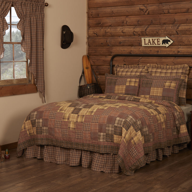 Prescott Quilted Collection - brown, green and tan patchwork