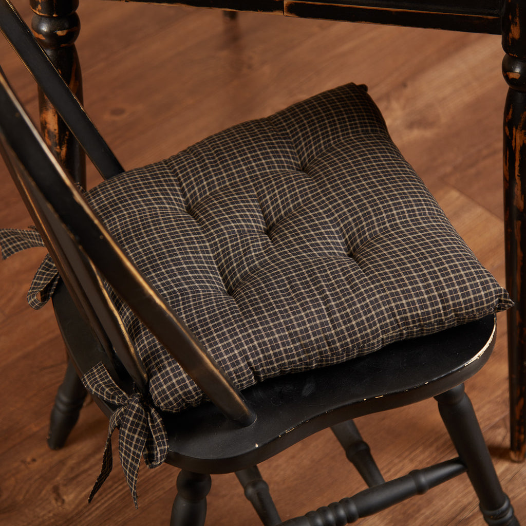 Kettle Grove Plaid Chair Pad