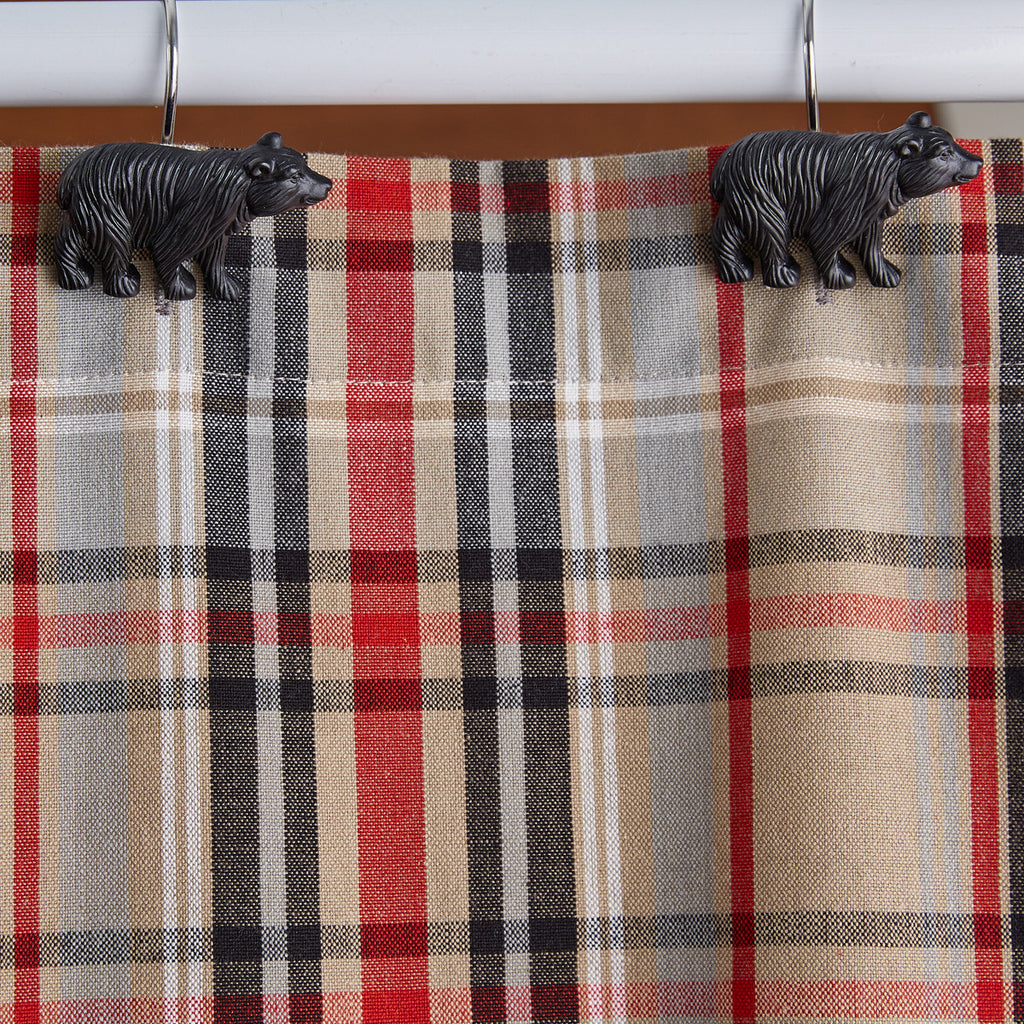 Black Bear - Shower Curtain Hooks