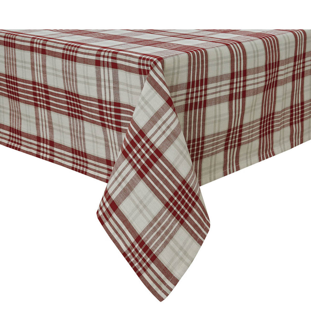 "Table Cloth 60"" x 84"" - Peppermint Plaid"