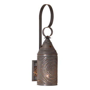 15-Inch Electrified Wall Lantern in Blackened Tin