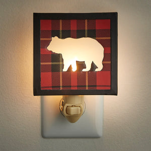 Night Light ~ Sportsman Plaid Bear