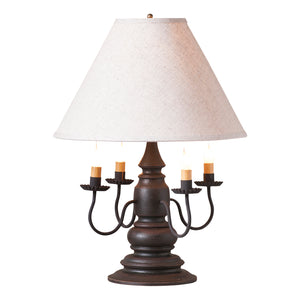 Harrison Lamp in Americana Black with Linen Ivory Shade