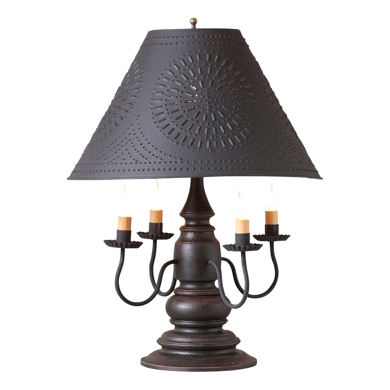 Harrison Lamp in Americana Black with Textured Black Tin Shade