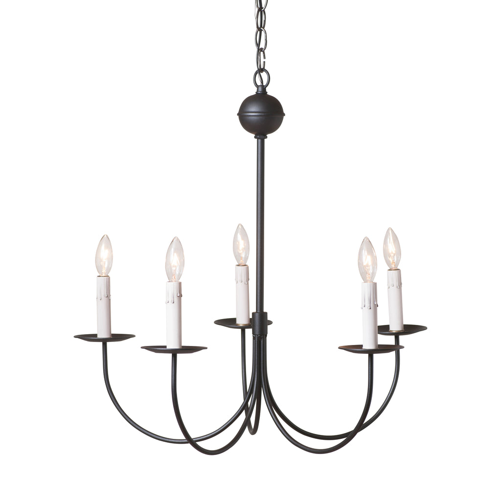 Large 5-Arm Westford Chandelier in Rustic Black