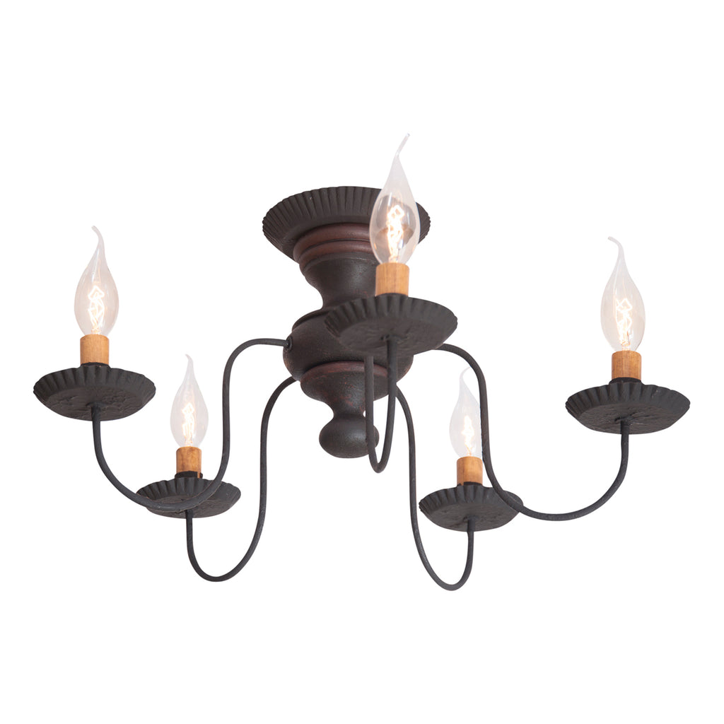 Thorndale Ceiling Light in Hartford Black with Red