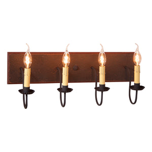 4 Light Vanity Light in Espresso with Salem Brick