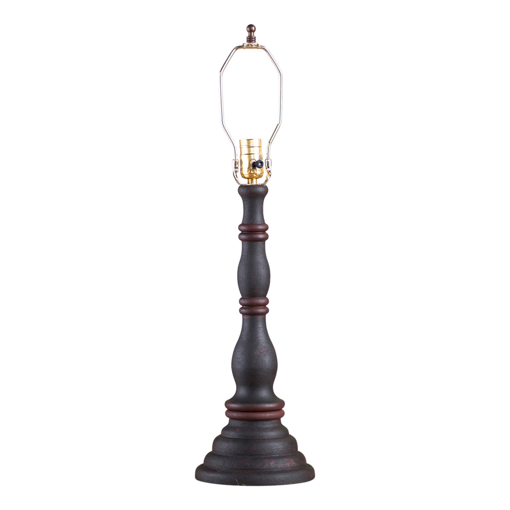 Davenport Lamp Base in Hartford Black with Red Stripe