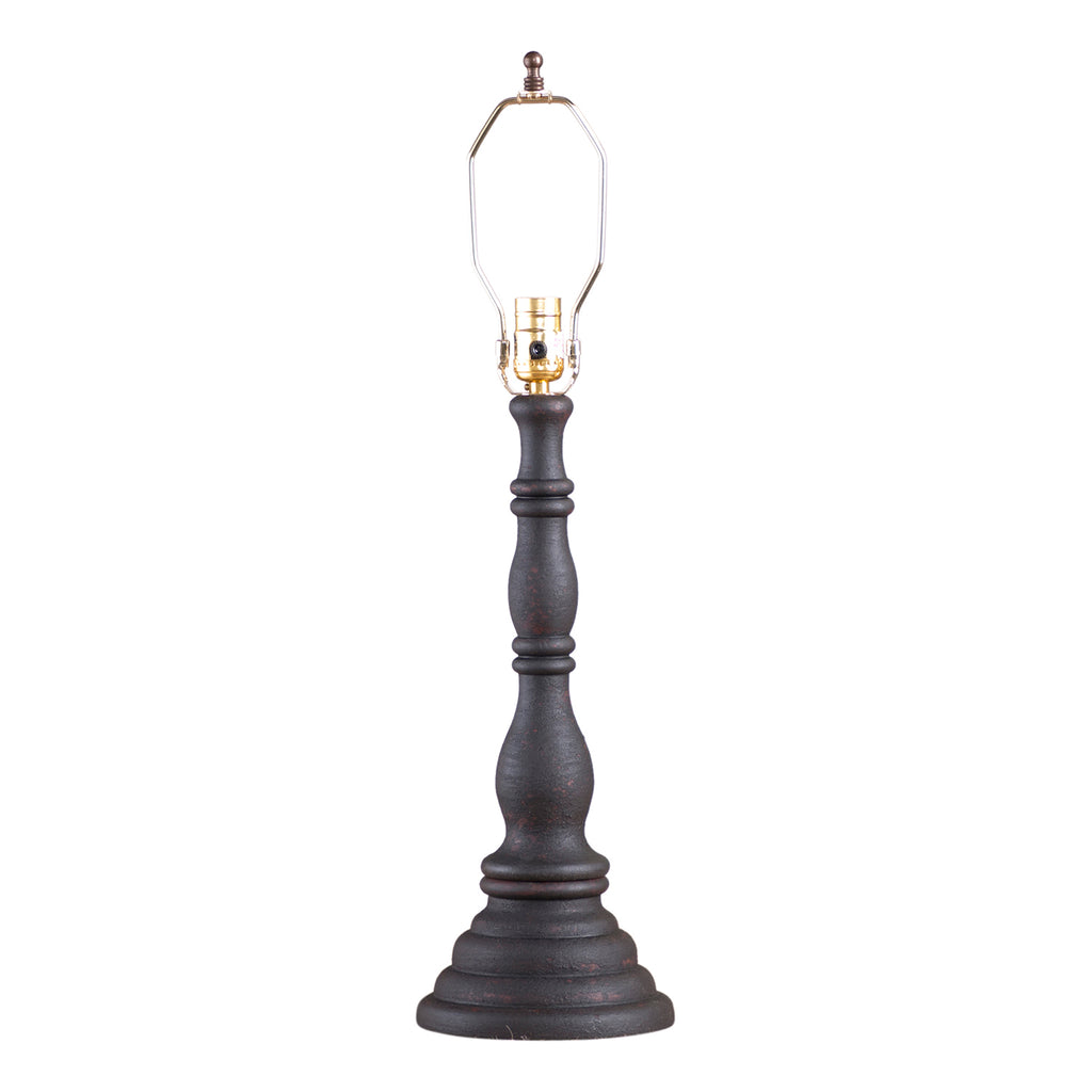 Davenport Lamp Base in Hartford Black over Red