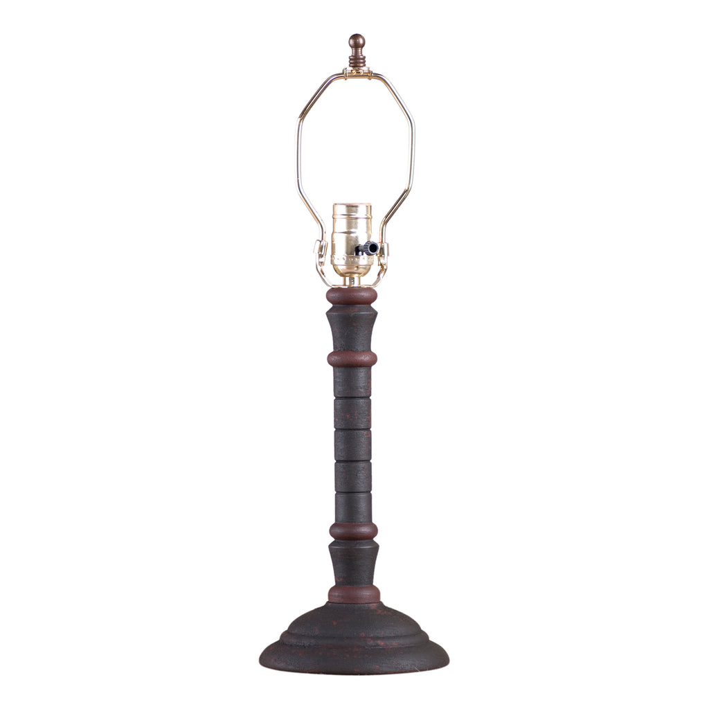 Gatlin Lamp Base in Hartford Black with Red Stripe