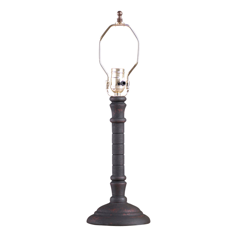 Gatlin Lamp Base in Hartford Black over Red