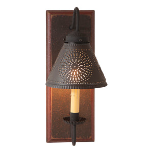 Crestwood Sconce in Espresso with Salem Brick