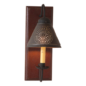Crestwood Sconce in Plantation Red