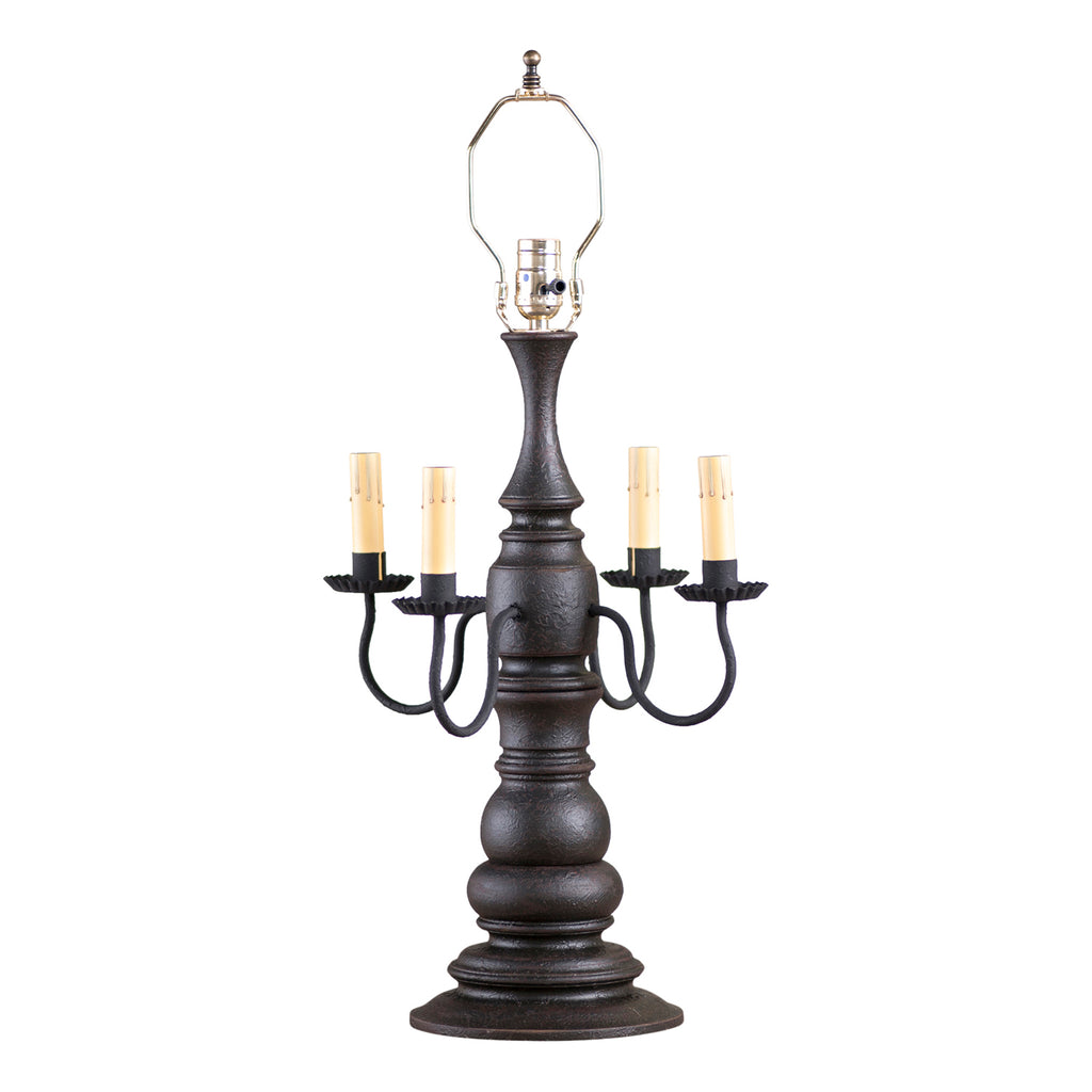 Bradford Lamp Base in Americana Black