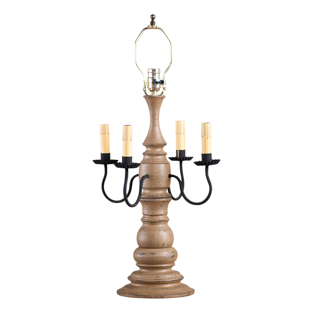 Bradford Lamp Base in Americana Pearwood