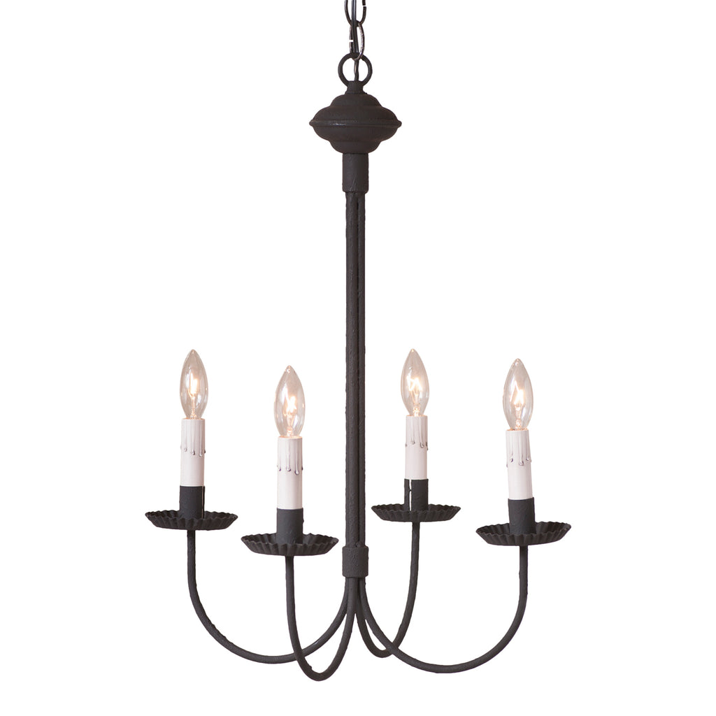 4-Arm Grandview Chandelier with Gray Sleeves