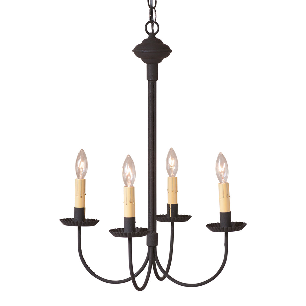 4-Arm Grandview Chandelier with Ecru Sleeves