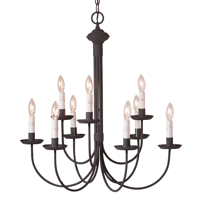 9-Arm Grandview Chandelier with Gray Sleeves