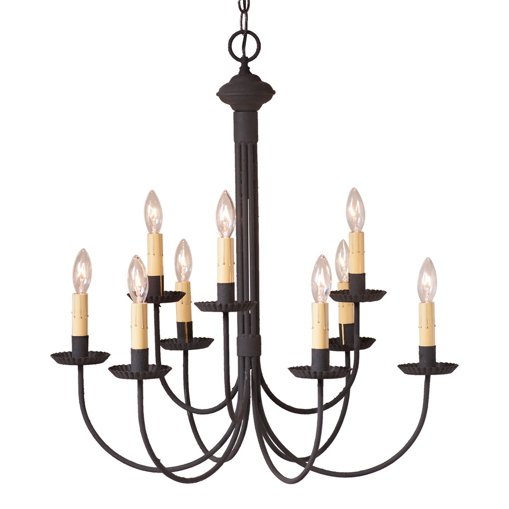 9-Arm Grandview Chandelier with Ecru Sleeves