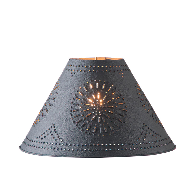 15-Inch Flared Shade with Chisel in Textured Black