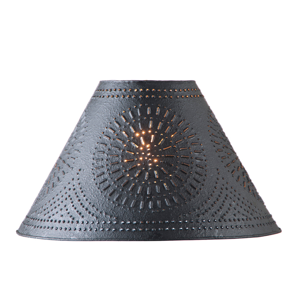 17-Inch Flared Shade with Chisel in Textured Black