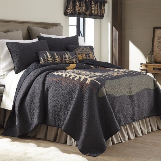 Donna Sharp Moonlit Cabin Rustic Lodge Quilted Collection