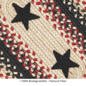 Primitive Star Gloucester Black - Red Braided Jute Rug Collection