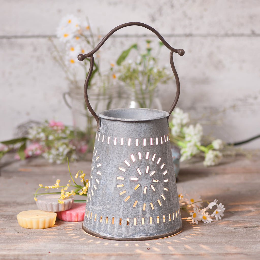 Farmhouse Wax Warmer in Weathered Zinc