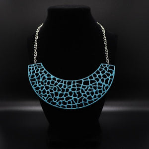 Necklace Powerful Prowl Blue Necklace