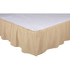 Burlap Vintage Ruffled King Bed Skirt 78x80x16
