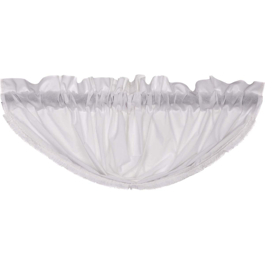 White Ruffled Sheer Balloon Valance 15x60
