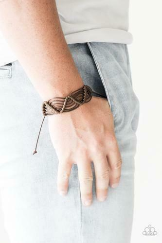 Paparazzi Rise To The Bait Dark Brown Urban Bracelet