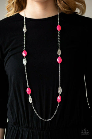 Paparazzi Beachfront Beauty Pink Necklace