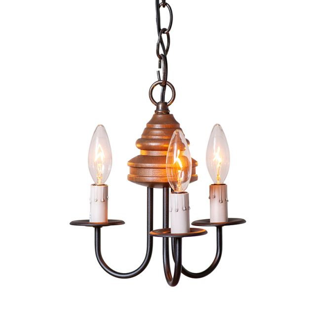 Bellview Chandelier in Rustic Brown