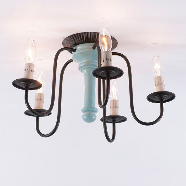Berkshire Ceiling Light in Misty Blue