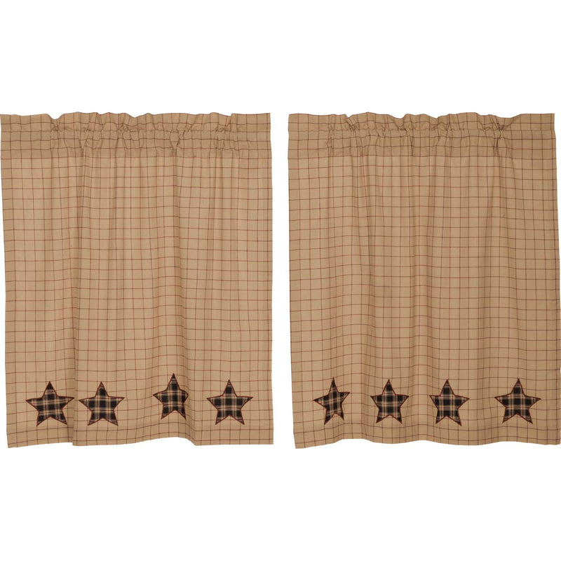 Bingham Star Tier Applique Star Set of 2 L36xW36