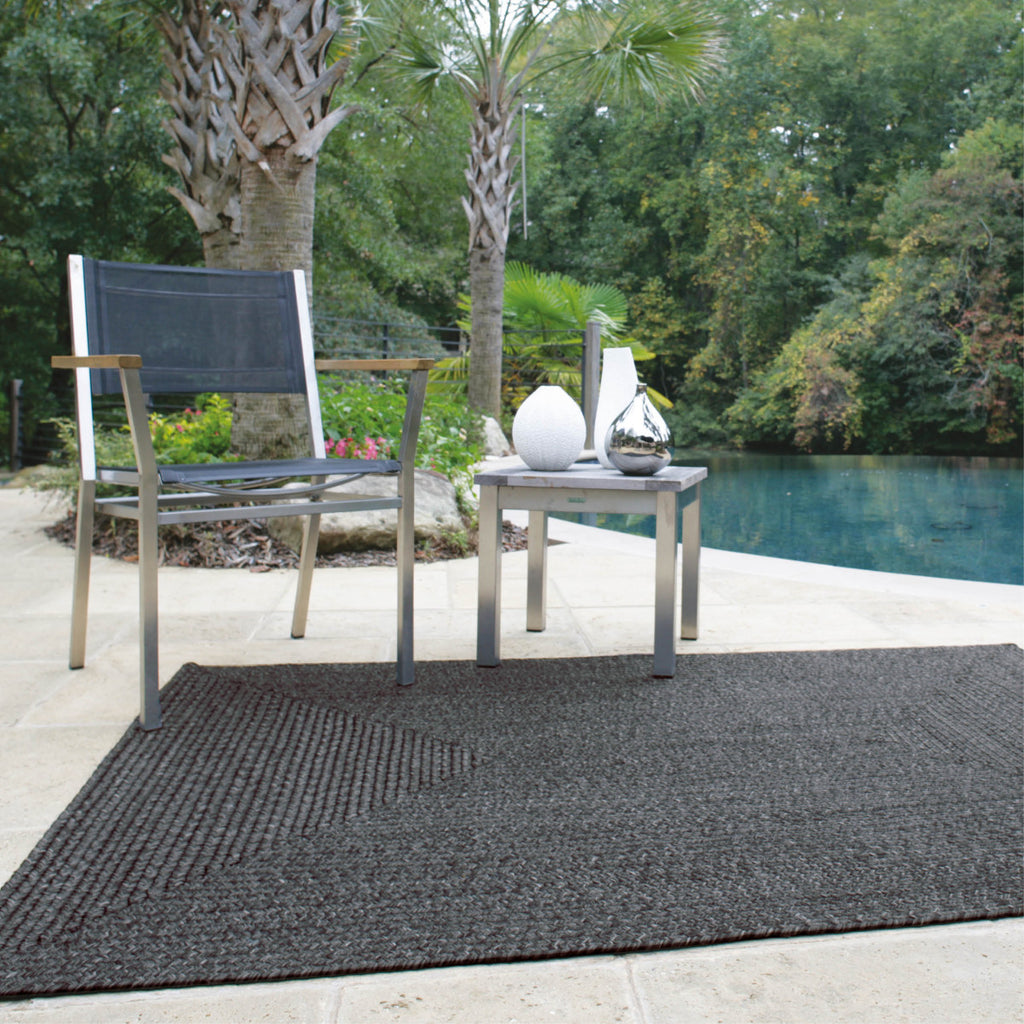 Black Ultra Durable Braided Rug Collection