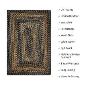 Black Forest Ultra Durable Braided Rug Collection