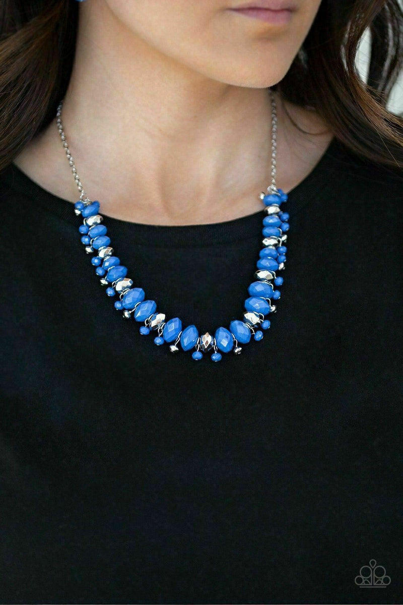 Paparazzi BRAGs To Riches Blue Necklace