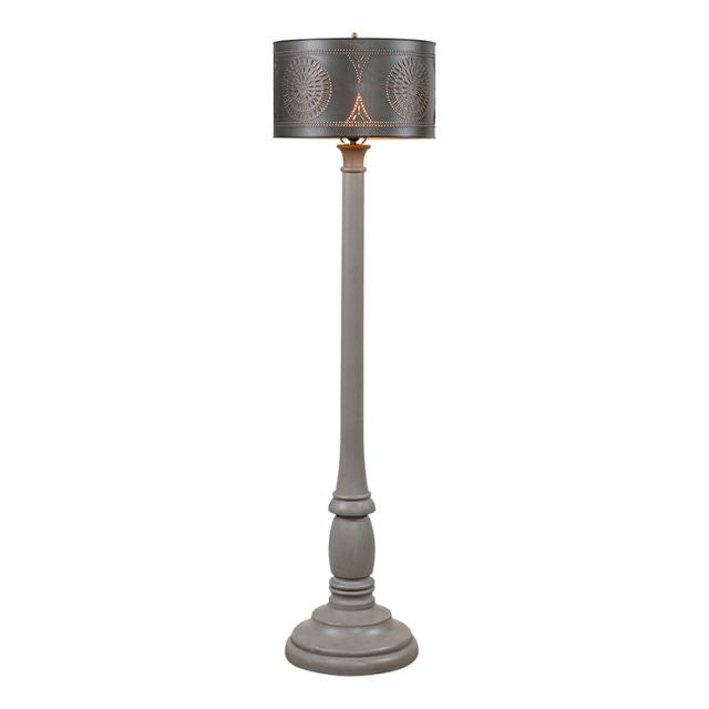 Brinton Floor Lamp in Earl Gray with Shade