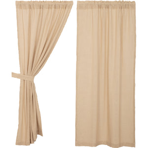 Burlap Vintage Short Panel Set of 2 63x36