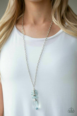 Paparazzi Crystal Cascade Blue Necklace