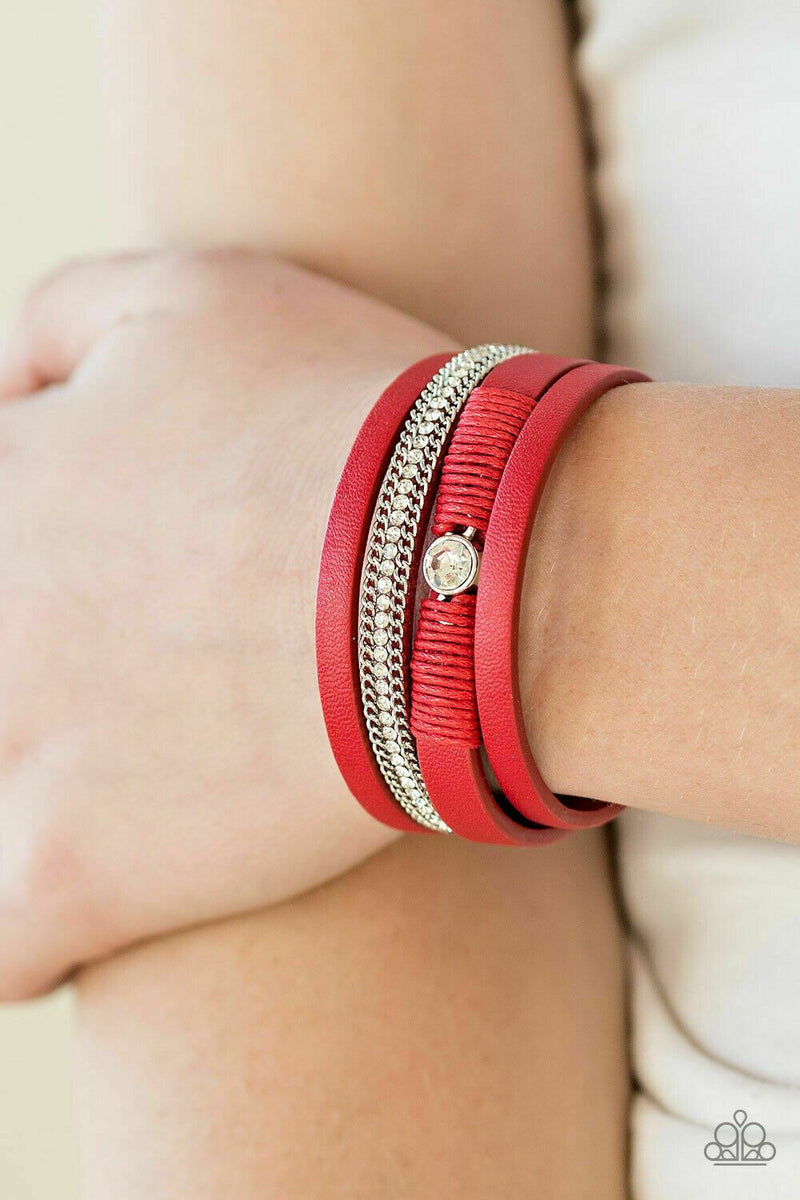 Paparazzi Catwalk Craze Red Urban Bracelet