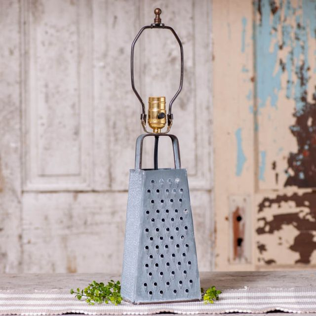 Cheese Grater Lamp Base