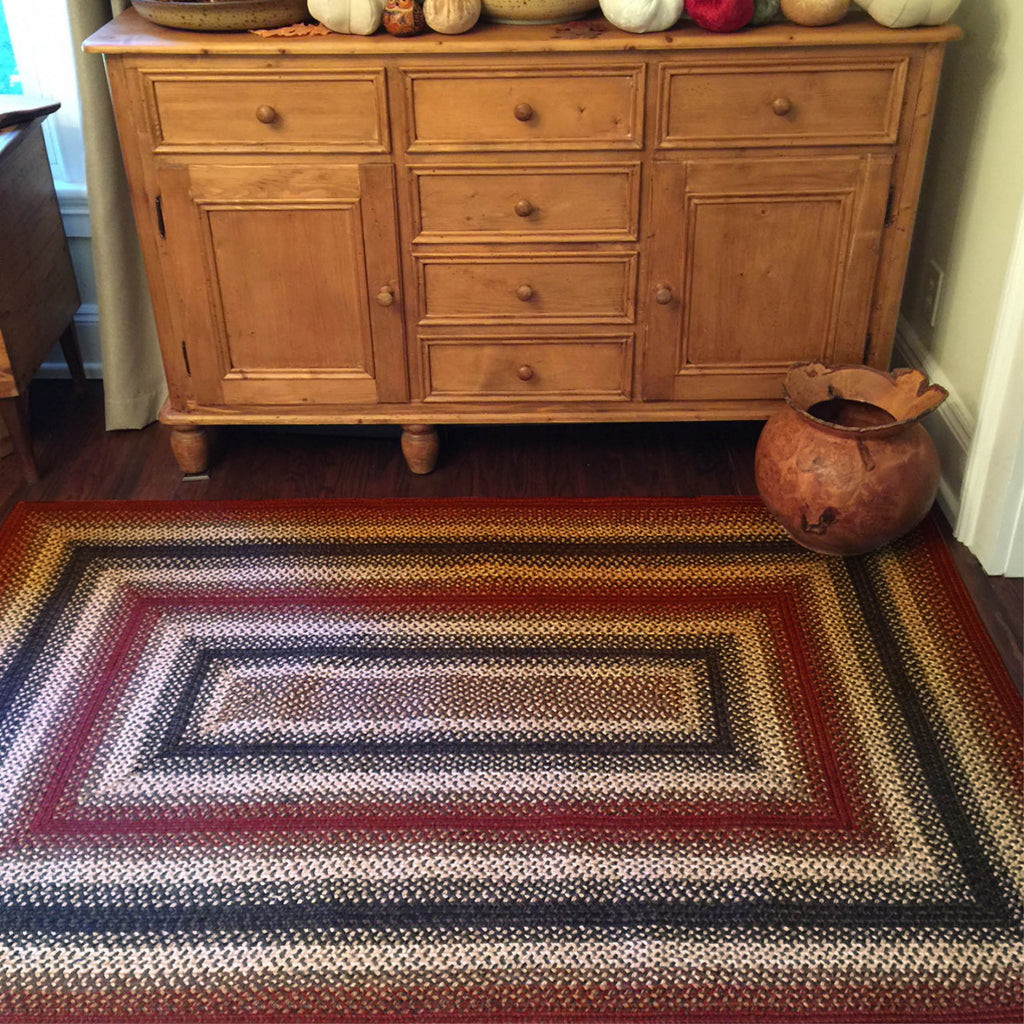 Chester Red Braided Jute Rug Collection