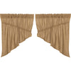 Burlap Natural Prairie Swag Set of 2 36x36x18