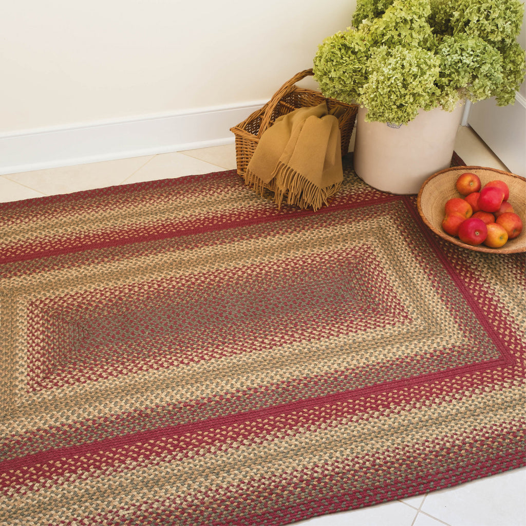 Cider Barn Red Braided Jute Rug Collection