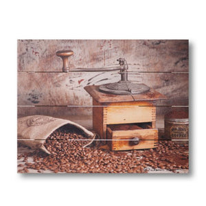 Farmhouse Pallet Wall Art ~ Coffee Grinder by Irvin Hoover