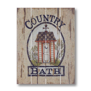 Farmhouse Pallet Wall Art ~ Country Bath Outhouse